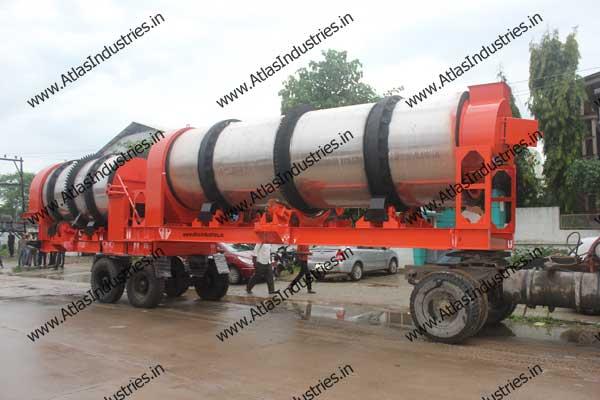 Atlas double drum asphalt mixer for Tanzania