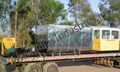 Bitumen tank with control cabin