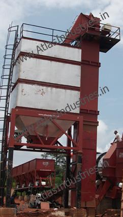 Hot mix storage silo