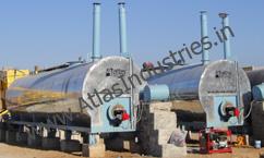 Bitumen storage and transfer tanks