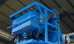 Weighing unit of concrete batching plant