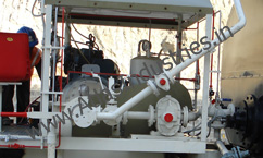 Bitumen pump and air compressor