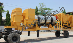 Drying and mixing drum of mobile asphalt plant