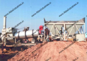 Mobile asphalt drum mix plant of capacity 20-30 tph in India