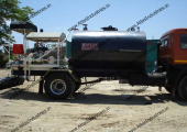 Bitumen pressure distributor working in Jammu Kashmir, India