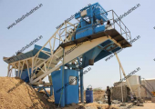 20 m3/hr. mobile concrete plant near Fategarh, Gujarat