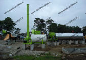 Asphalt drum mix plant installed in Philippines