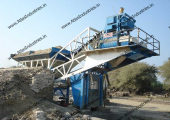 20 m3/hr. concrete mixing plant installed in Baran, Rajasthan