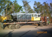 20-30 tph capacity mobile asphalt plant installed in Orissa, India