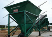 200 cum stationary concrete mixing plant installed in India