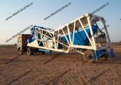20 m3/hr. mobile concrete plant near Fategarh, Gujarat