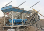 Concrete mixing plant of 20 m3/hr. near Saputara, India