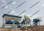 15 cum/hr. portable concrete mixer machine near Dhandhuka, Gujarat