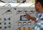 Portable ready mix concrete plant installed in Chennai, India