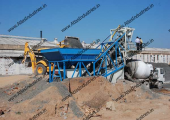20 m3/hr. mobile concrete batch mix plant near Padra, Gujarat