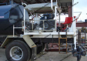 Bitumen pressure distributor working in Jammu Kashmir, India