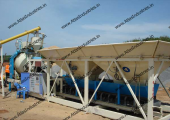 Portable ready mix concrete plant installed in Chennai, India