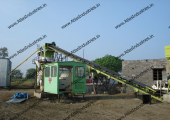 Ready mix concrete plant with pan mixer