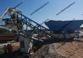 20 m3/hr. mobile concrete batch mix plant near Padra, Gujarat