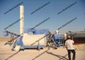 Drum mix type asphalt plant installed in Libya