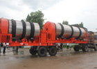 90-120 tph mobile double drum plant for Tanzania